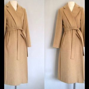 Flewrette Beige Camel Hair Trench Coat